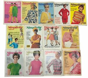 13 -Simplicity Fashion News Monthly issues Of New patterns  1967 & 1968