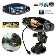 Dual Lens Camera HD Car DVR Dash GPS Cam Video Recorder G-Sensor w/ Night Visio