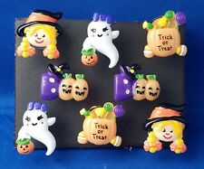 HALLOWEEN TRICK or TREAT Push Pins Thumb Tacks - Handmade Decorative 8 pc Set