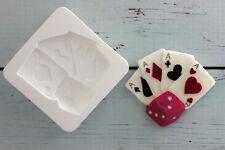 Cards, Dice, Casino, Food Grade Silicone Sugarcraft/chocolate/fimo Mould M029