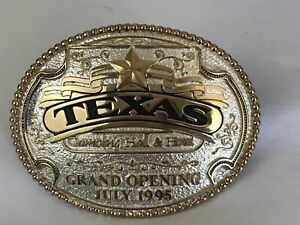 Vintage Texas Station Gambling Hall & Hotel Grand Opening July 1995 Belt Buckle