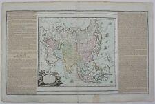ASIA 1765 CHINA JAPAN INDIA INDONESIA AUSTRALIA KOREA ORIGINAL ANTIQUE MAP BRION