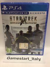 STAR TREK BRIDGE CREW SONY VR PS4 - NEW NUOVO SIGILLATO PAL - VIDEOGIOCO PER VR