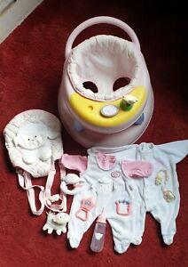 Zapf Creation Baby Annabell Bundle. Walker-Carrier-2xGrows-Bottle-Dummy-Rattle