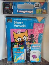 Learning Horizons Short Vowels Kit Book Flashcards Stickers Grade K 1 2 Grammar