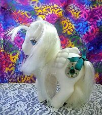 Vintage My Little Pony 👑 *PRINCESS TIFFANY* UK: Pearl White Pegasus Jewel Pony