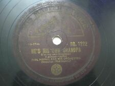 "PHIL HARRIS & ORCHESTRA BD 1222 INDIA INDIAN RARE 78 RPM RECORD 10"" PLUM EX"