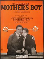 """1929 """"Mother'S Boy"""" Movie Sheet Music Store Ad Poster - Morton Downey"""