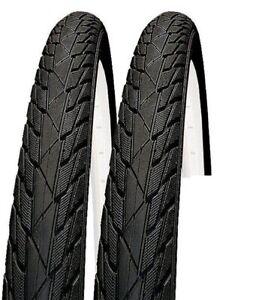 Pair of 24x1.75 inch bicycle tyres bike tyre slick road suit 24 x 1.95 47-507