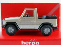 Herpa 3075 Mercedes-Benz 230 GE Cabrio (1982) in champagnermet. 1:87/H0 NEU/OVP