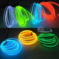 2M/5M x 5mm LED Flash Flexible Neon Light Glow EL Tube Wire Rope Car Party Decor