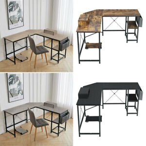 Large Computer Desk L-Shaped Corner Workstation Home Office Study Working Table