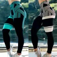Womens Compression Yoga Pants Fitness Leggings Running Scrunch Workout Trousers