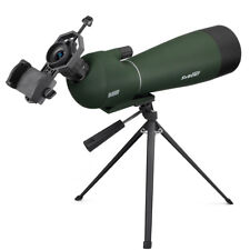 SV28 20-60x80mm BAK4 Prism 45° Angled Zoom Spotting Scope+Adapter Birdwatching