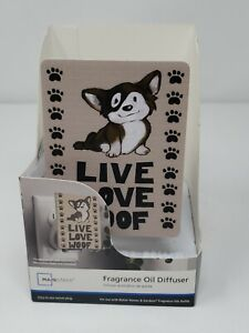 """Fragrance Oil Diffuser Plug in """"Live Love Woof"""" Dog Puppy  NEW FREE SHIPPING"""