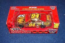 BILL ELLIOTT 1998 RACING CHAMPIONS NASCAR 1:24 GOLD MCDONALD'S MAC TONIGHT VN31