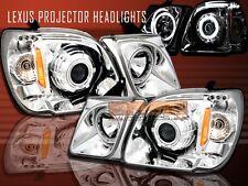 98-07 LEXUS LX470 LX 470 CCFL 2 HALO PROJECTOR HEADLIGHTS LED CHROME