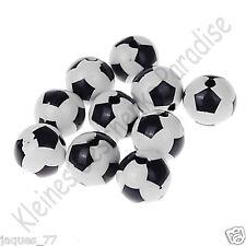 10 Motivperlen 12mm Fussballperlen / Fussball Perlen / Fußballperlen Fußball