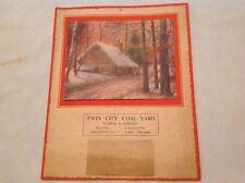 Twin City Coal Yard, Fleming & Co. 1927 Calendar Urbana - Champaign