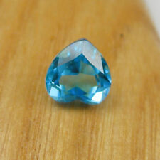 8mm Heart Faceted Cut Swiss Blue Topaz Loose Natural Gemstone, 2.35 carats
