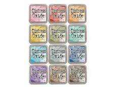 TIM HOLTZ Distress Oxide Ink Pads in 12 colors By Ranger Set #1 FREE SHIPPING