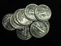 1943 Liberty Walking Half Dollar AU/AU+ 90% SILVER