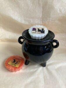 B/N Beautiful Ceramic Black Cauldron Tart Burner & Yankee Candle Wax Tarts/Melts
