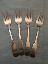 SET 4 SALAD FORKS! Vintage LIFETIME CUTLERY stainless: LCU64 pattern: LOVELY!