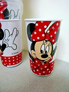 Set Of Six BBS Disney Mini Mouse Hard Plastic Drinking Beakers High Quality,New.