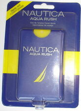 Nautica Aqua Rush EDT Travel Spray ~ .67 FL. Oz./20 ML  ~ Factory Sealed ~