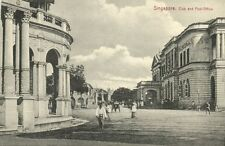 straits settlements, SINGAPORE, Club and Post Office (1910s)