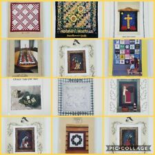 Quilt Pattern Leaflets Choice Applique Embroidery Sewing Wallhanging