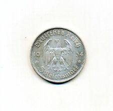 Germany - 1934 Third Reich 5 Reichsmark A KM# 83 Silver Coin