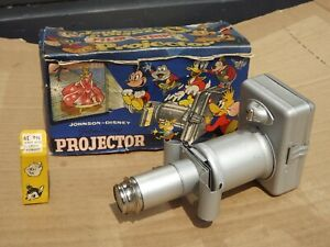 Vintage Johnson Disney Film Strip Projector with 1 slide and boxed