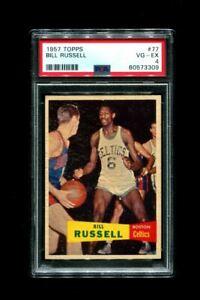 1957 BILL RUSSELL TOPPS #77 ROOKIE CELTICS HOF PSA 4