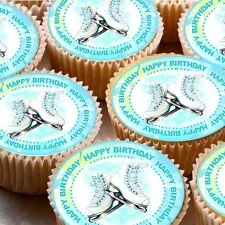 24 Glassa Fata Torta Cupcake Topper Decorazioni pattinare Buon Compleanno