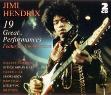 JIMI HENDRIX - 19 Great Performances (featuring Jim Morrison) 2-CD Set EXC