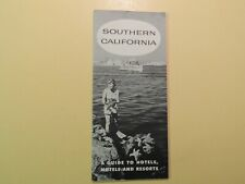 Southern California Guide to Hotels Motels Resorts vintage directory 1957
