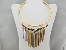 INC International Concepts Stone &Fringe Collar Necklace Msrp$39.50*NEW WITH TAG