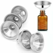 5Pcs Mini Stainless Steel Funnel For Perfume Diffuser Bottle Liquid Oil Flask US