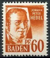 Baden 1947-1948 SG#FB10, 60pf Brown-Orange MNH #D99654