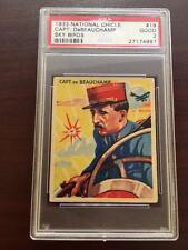 1933 National Chicle Capt. DeBeauchamp  Sky Birds  Graded PSA 2 Good   #19