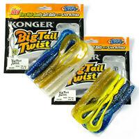 Fishing Soft Lure Curly Long Tail Grub 14cm Pike Jig Head Offset Hook Bait Set02