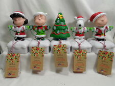 2015 Hallmark Peanuts Christmas Light Show Set of 5 Snoopy Lucy Charlie Brown