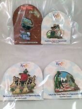 4 LE Pins Disney Epcot Topiary Series & Twilight Zone- Passholder Exclusive Pins