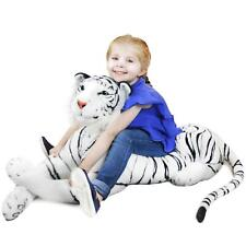 Timurova the White Siberian Tiger | 4 Foot Long Stuffed Animal Plush Tiger