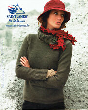 Publicité Advertising 107  2009  pull tricot Saint-James