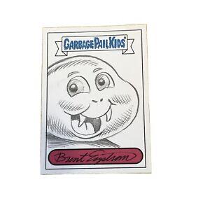 Garbage Pail Kids Brent Engstrom Sketch Card 1/1 Lizard Liz Slimy Sam