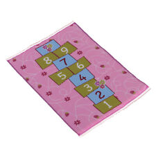 MagiDeal 1/12 Dollhouse Miniature Rug Hopscotch Carpet Floor Covering Pink