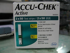Accu Chek Active 100 Test Strips - 1 Code Chip - Expiry November 2019